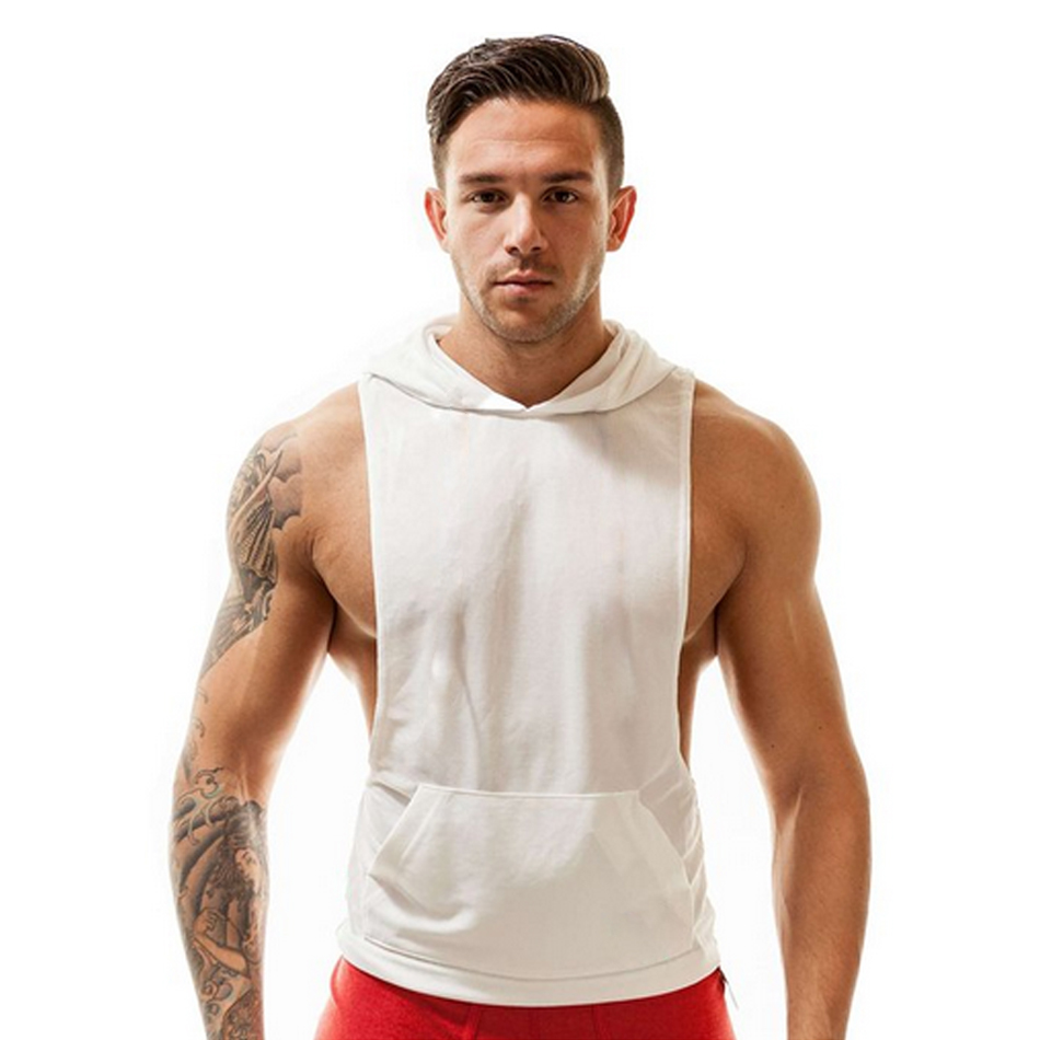 Fitness Men Stringer Hoodies Bodybuilding Clothing Tank