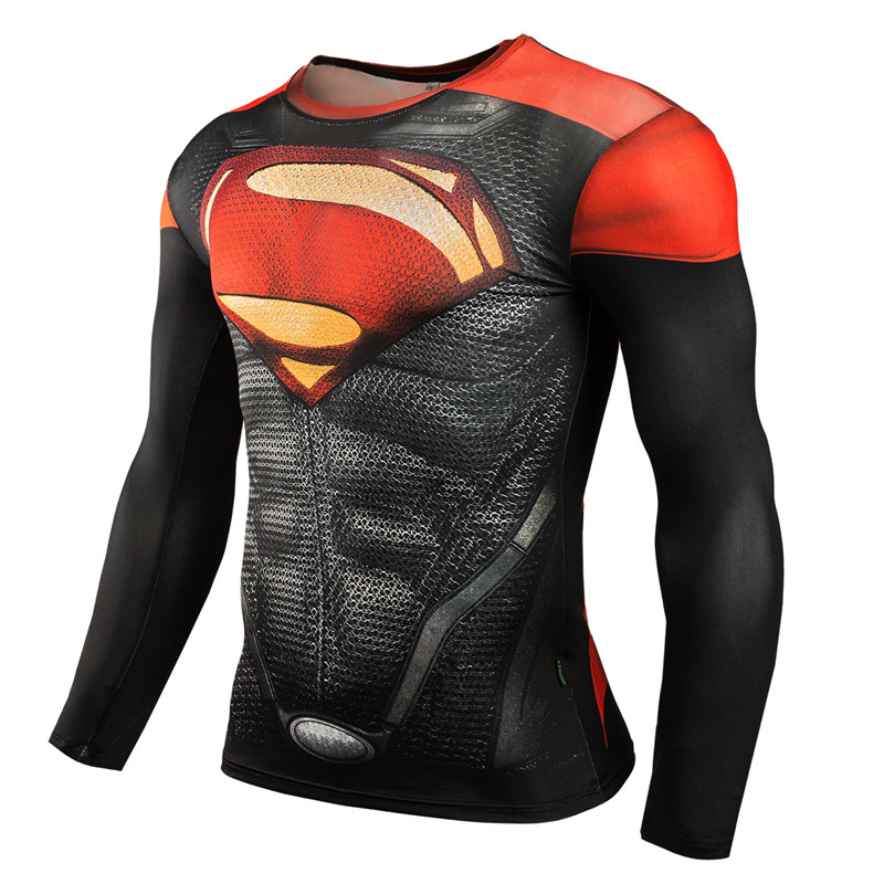New 2016 Brand Clothing Fitness Compression Shirt Men Superman ...